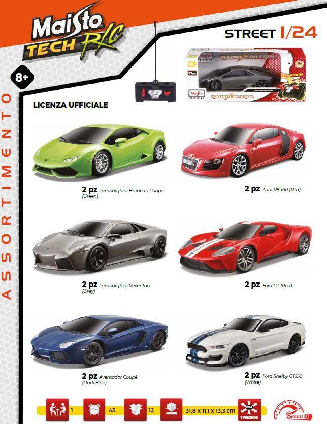 GIOCHI AUTO R/C 1:24 SUPER CARS 1pz RADIOCOMANDO