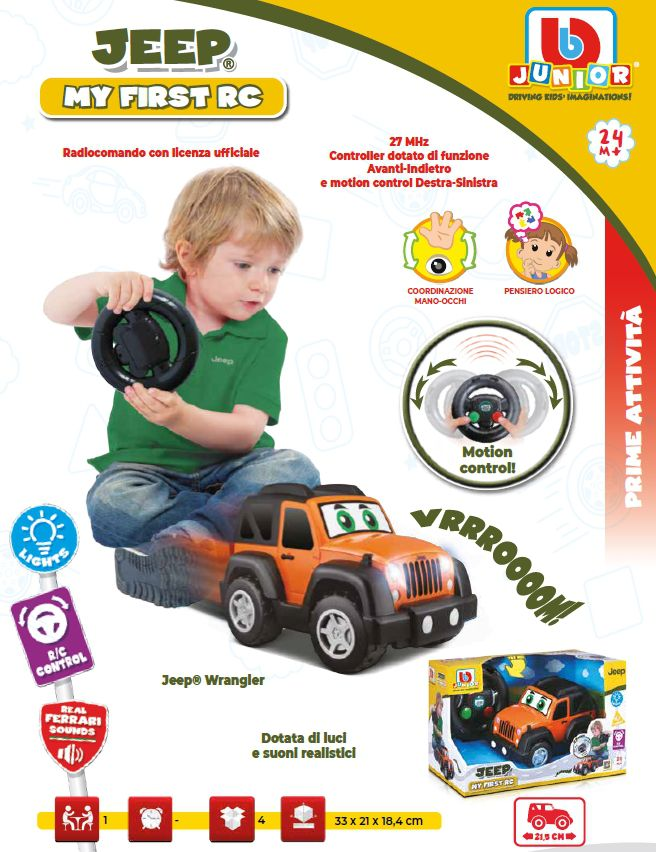 GIOCHI AUTO R/C JEEP FIRST 1pz RADIOCOMANDO