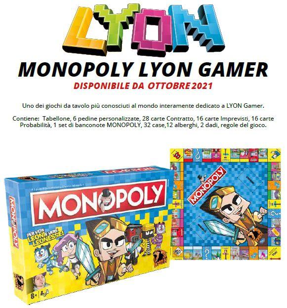 GIOCHI MONOPOLY RETTANGOLARE 1pz LYON GAMER