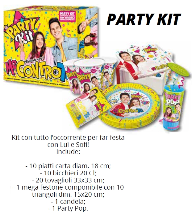 KIT PARTY 1pz ME CONTRO TE