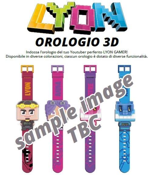 GIOCHI OROLOGIO 3D 1pz LYON GAMER