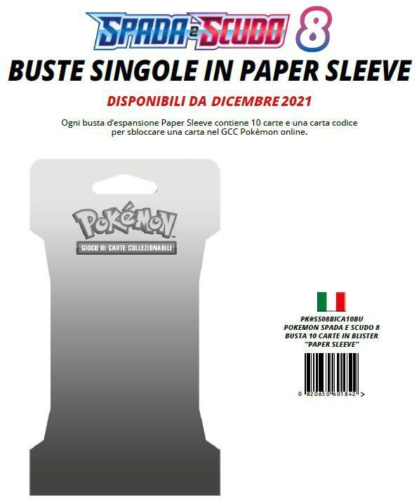 CARTE DA GIOCO POKEMON BUSTINA 1x10pz BLISTER 08... (V.6,30)