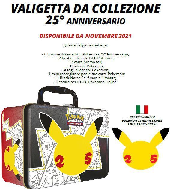 CARTE DA GIOCO POKEMON VALIGETTA METALLO 1pz - ANNIVERSARIO 2021
