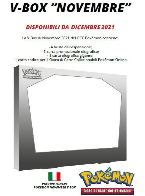 CARTE DA GIOCO POKEMON V BOX 1pz - ANNIVERSARIO 2021