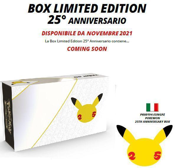 CARTE DA GIOCO POKEMON BOX LIMITED EDITION 1pz - ANNIVERSARIO 2021