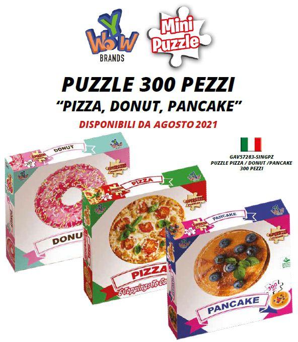 GIOCHI PUZZLE 300pz PIZZA DONUT PANCAKE