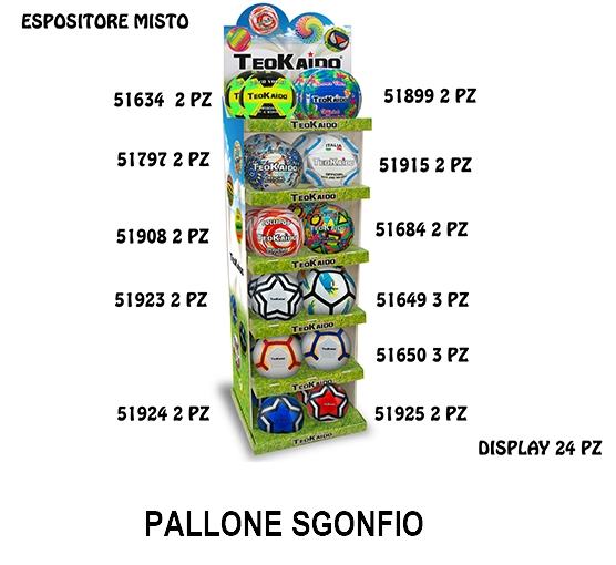 GIOCHI TEOKAIDO - EXPO 24pz PALLONE PVC MISTO