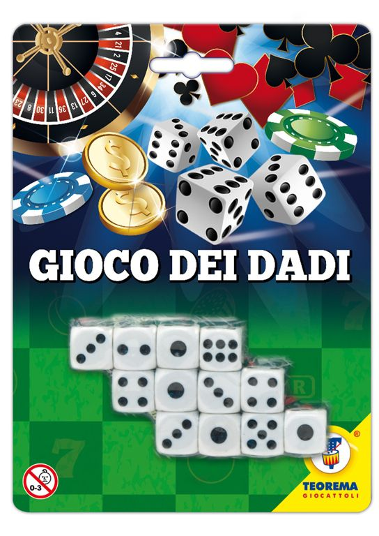 GIOCHI DADI CASINO GAMES 1x12pz