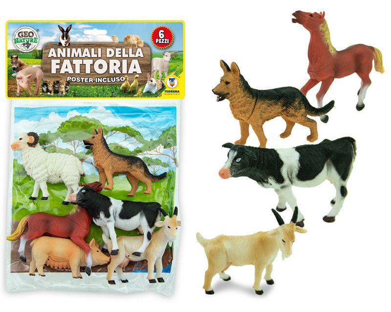GIOCHI BUSTA ANIMALI DELLA FATTORIA 1pz TEOREMA