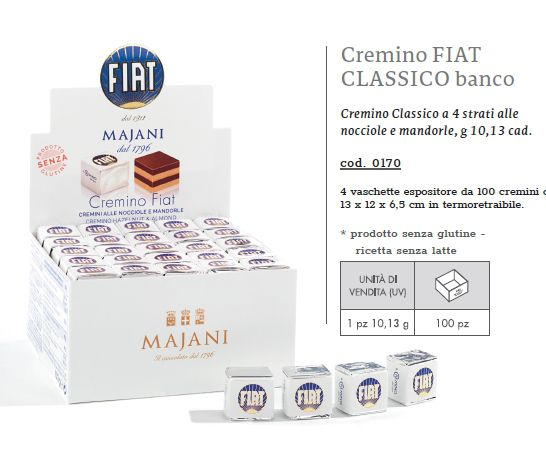 CARTONE MISTO MAJANI CREMINO FIAT 100pz