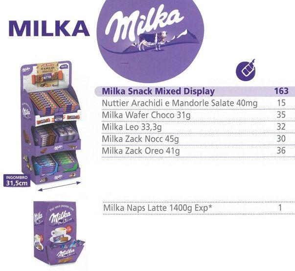 CARTONE MISTO MILKA SNAK MIX 163pz + MILKA NAPS 1400gr (4263634)