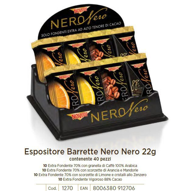 CARTONE MISTO NOVI BARRETTE NERO NERO 22gr 40pz C.