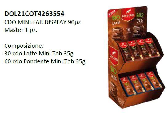 CARTONE MISTO COTE D'OR TAVOLETTE BIO 35gr 90pz - EXPO DA BANCO