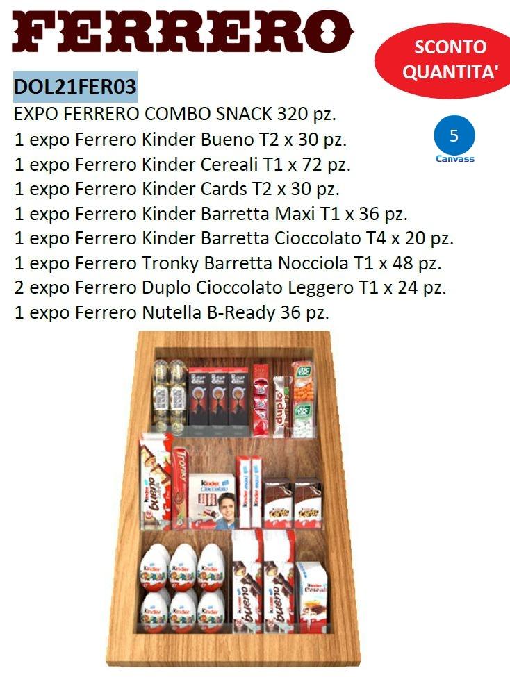 CARTONE MISTO FERRERO COMBO SNACK 320pz