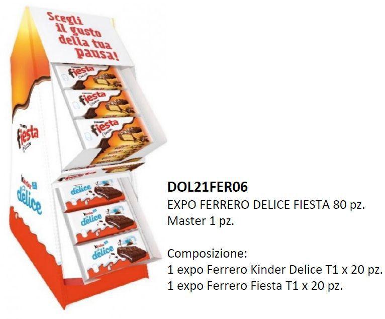 CARTONE MISTO FERRERO FORNI DELICE FIESTA 80pz - W600
