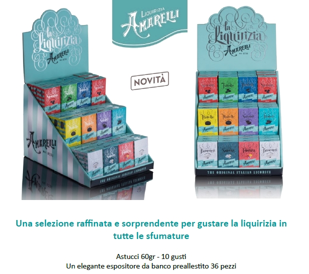 AMARELLI LIQUIRIZIA MISTE 36pz - EXPO ASSORTITI