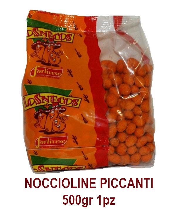 NOCCIOLINE PICCANTI 500gr 1pz LOSNECOS FORLIVESE - aperitivo