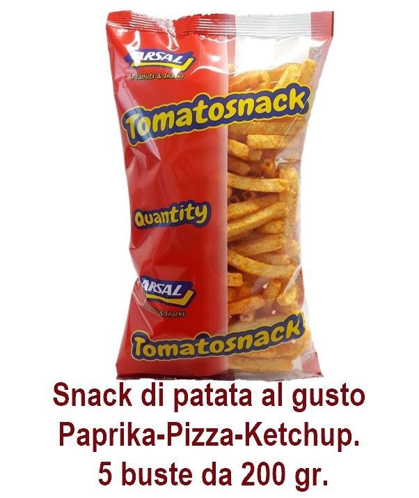 PATATINE TOMATO SNACK 200gr 5pz ARSAL - aperitivo