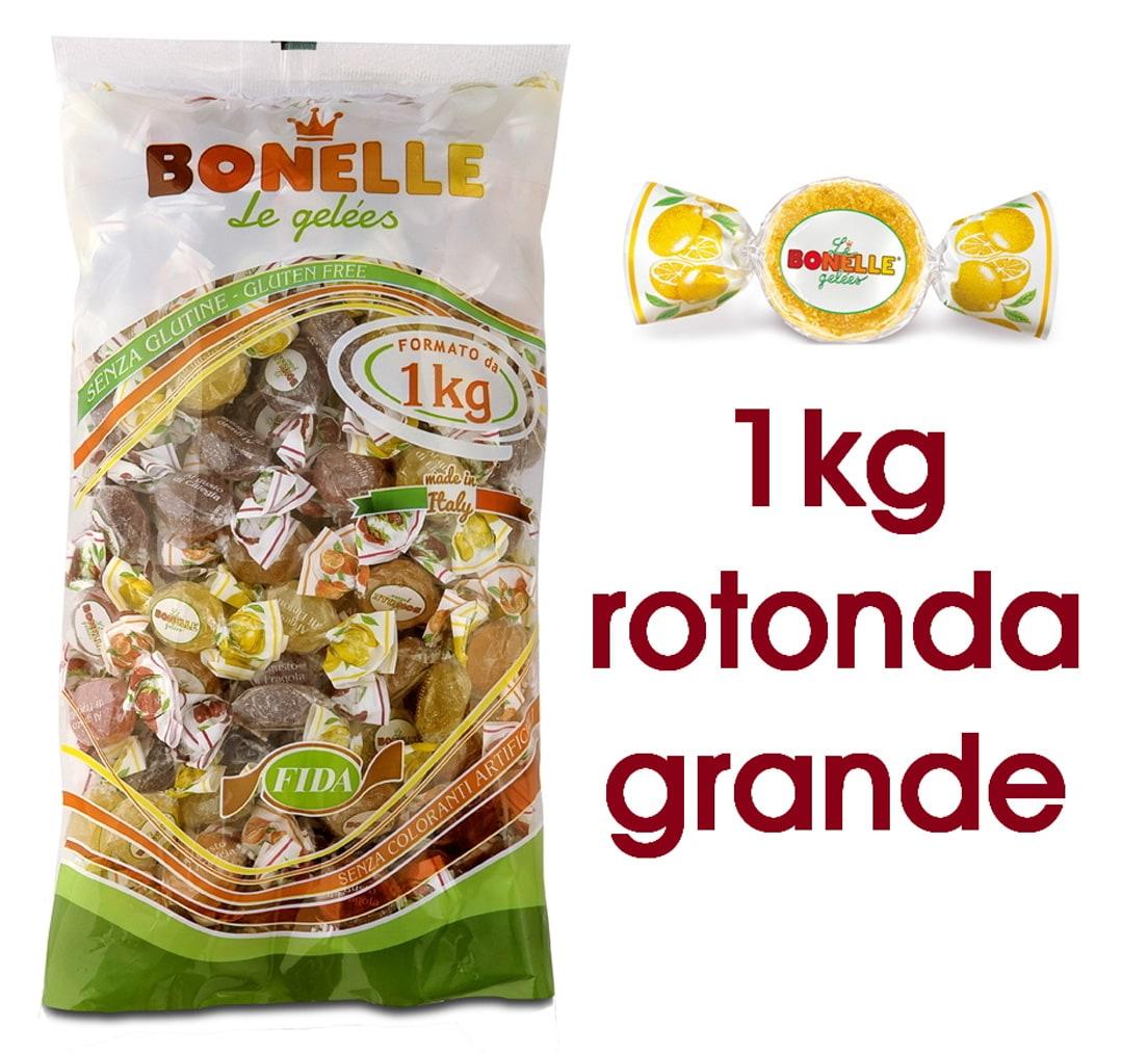 CARAMELLE BUSTA BONELLE FIDA ASSORTITE MAXI 1kg ROTONDA SENZA GLUTINE