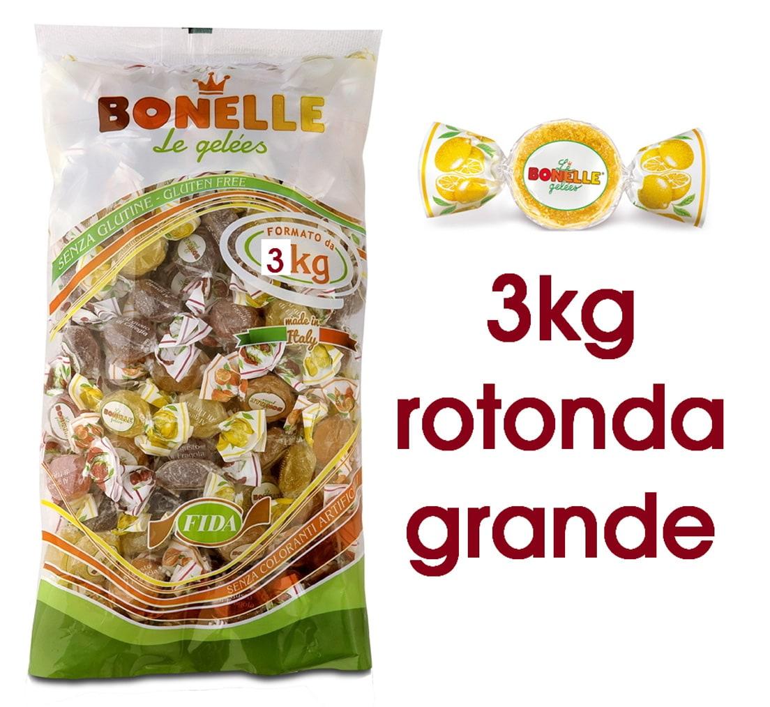CARAMELLE BUSTA BONELLE FIDA ASSORTITE MAXI 3kg ROTONDA SENZA GLUTINE