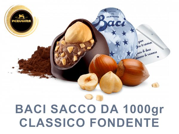 BACI PERUGINA CLASSICO SACCO 1000gr C.A. 80pz