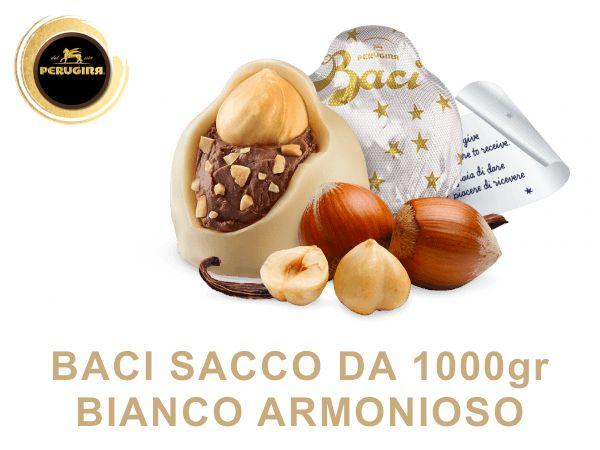 BACI PERUGINA BIANCO SACCO 1000gr C.A. 80pz
