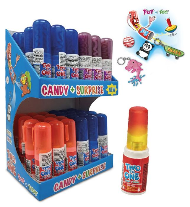 CARAMELLE TOYS TWO TO ONE TOWER 48pz 25gr - CASA DEL DOLCE