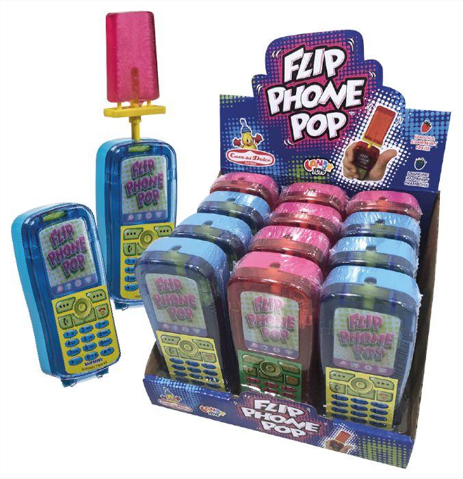 CARAMELLE TOYS FLIP PHONE POP 12pz 30gr - CASA DEL DOLCE