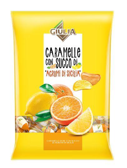 CARAMELLE BUSTA GIULIA 150gr SPICCHI AGRUMI DI SICILIA - C12