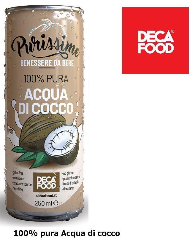 BEVANDA PURISSIME 12pz 250ml ACQUA DI COCCO LATTINA - èALOE