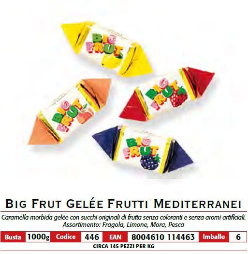 CARAMELLE BUSTA BIG FRUIT 1kg FRUTTI MEDITERRANEI