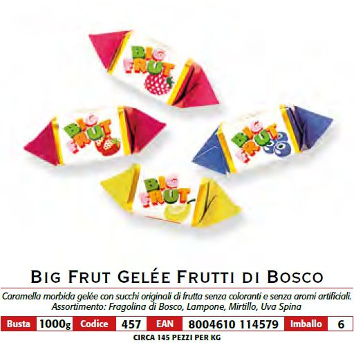 CARAMELLE BUSTA BIG FRUIT 1kg FRUTTI DI BOSCO