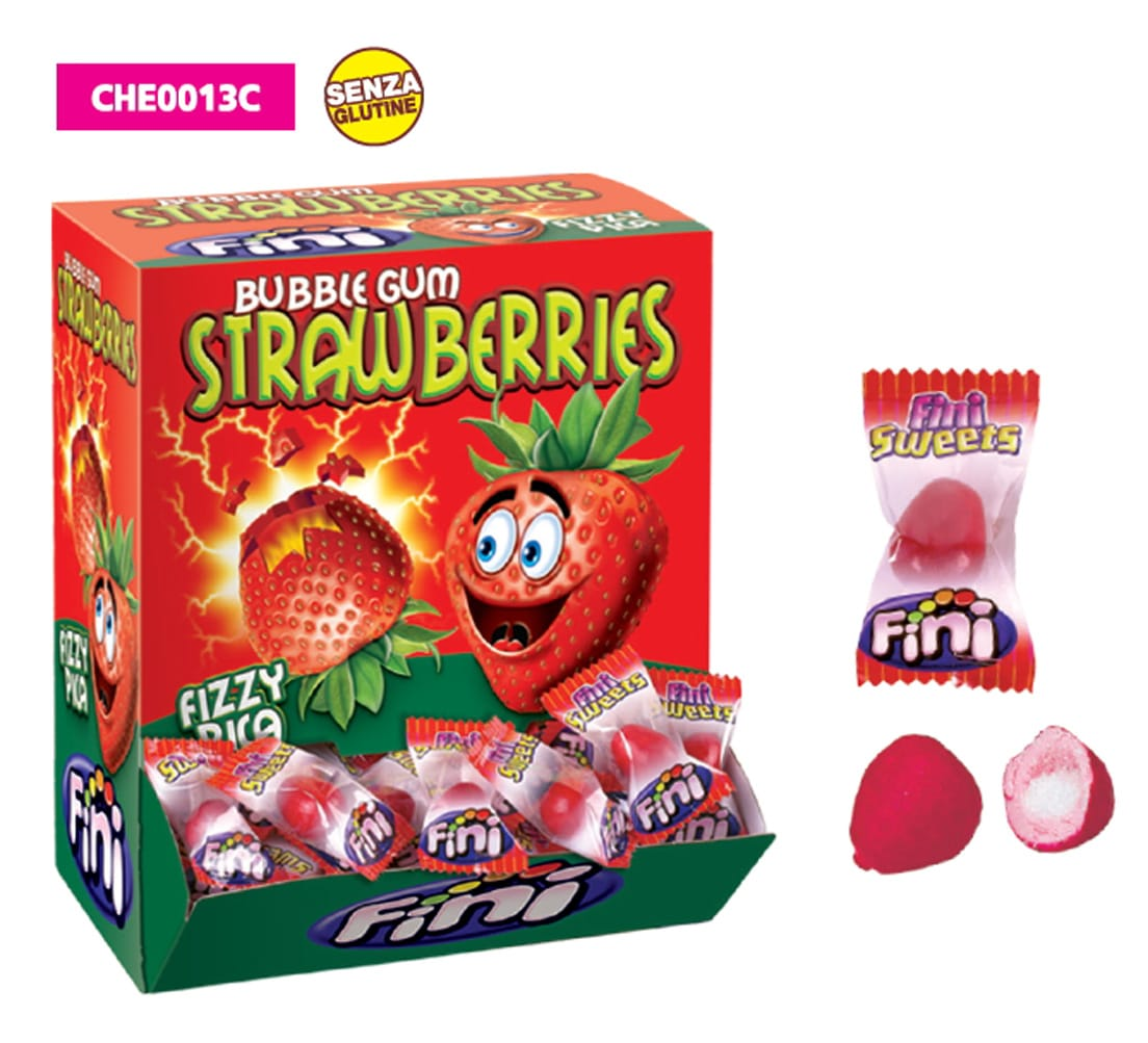 FINI GUM FRAGOLA STRAWBERRIES 1x200pz SENZA GLUTINE