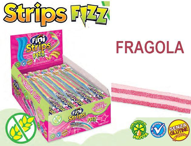 FINI STRISCIA 150pz 8gr FRAGOLA senza glutine