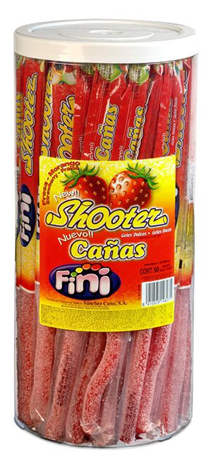 FINI CANAS CANNUCCIA FRAGOLA FRIZZ 50pz 28gr - D6