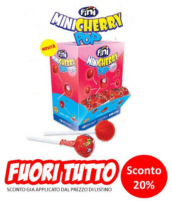 FINI CHUPA GUM MINICHERRY 150pz