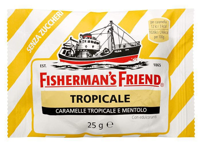 FISHERMAN'S BUSTA FRUTTA TROPICALE SENZA ZUCCHERO 25g 24pz