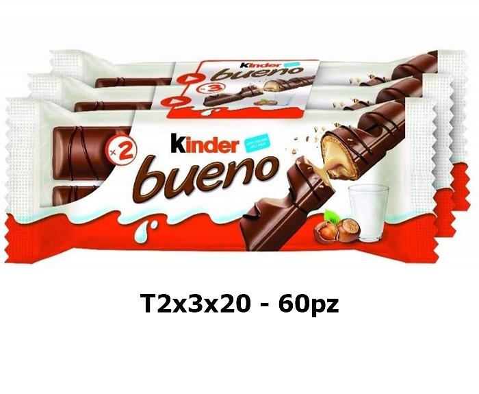 FERRERO KINDER BUENO T2x3x20 - 60pz formato famiglia
