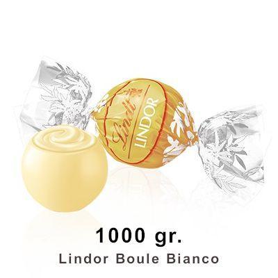 LINDT BOULES LINDOR BIANCO SACCO 1000gr C.A. 80pz - ORO