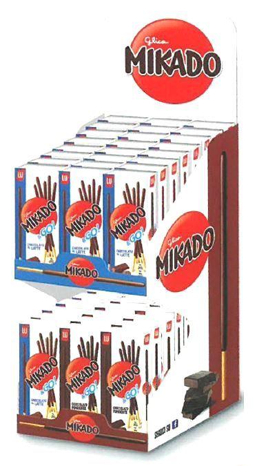 SNACK MIKADO EXPO LATTE FONDENTE 48pz 39gr