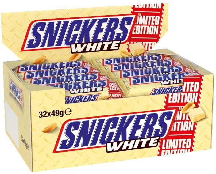 MASTERFOOD SNICKERS BIANCO 49gr 32pz