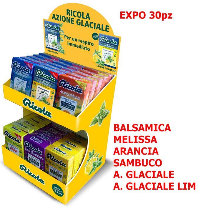 RICOLA ASTUCCIO EXPO CORE 30pz ASSORTITI + EXPO DA BANCO