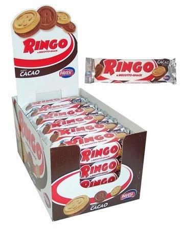 BISCOTTI RINGO PAVESI CACAO 55g 24pz