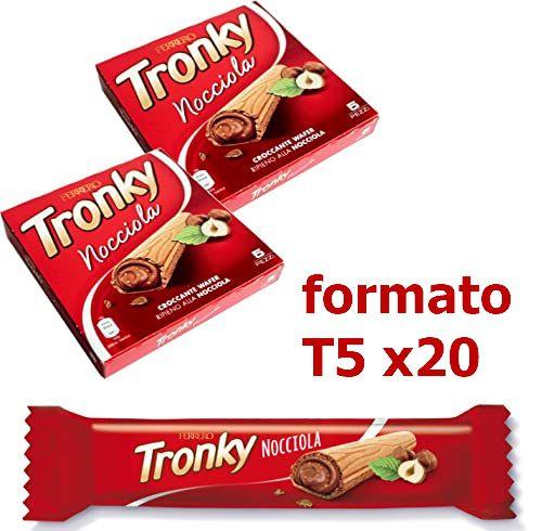 FERRERO TRONKY BARRETTA NOCCIOLA T5x20pz FORMATO FAMIGLIA FERRERO