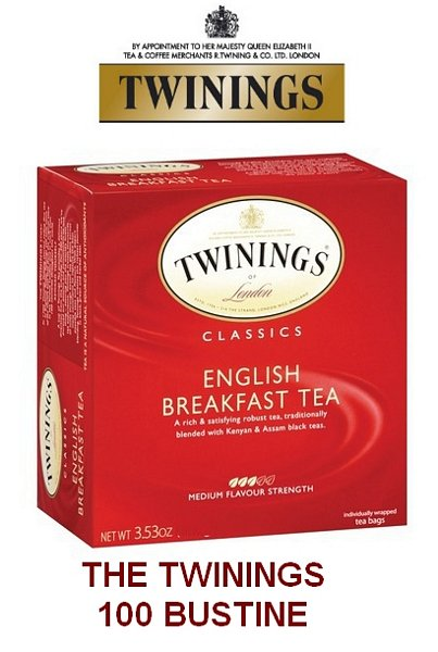 TWININGS Te' CLASSICO ENGLISH BREAKFAST 100pz