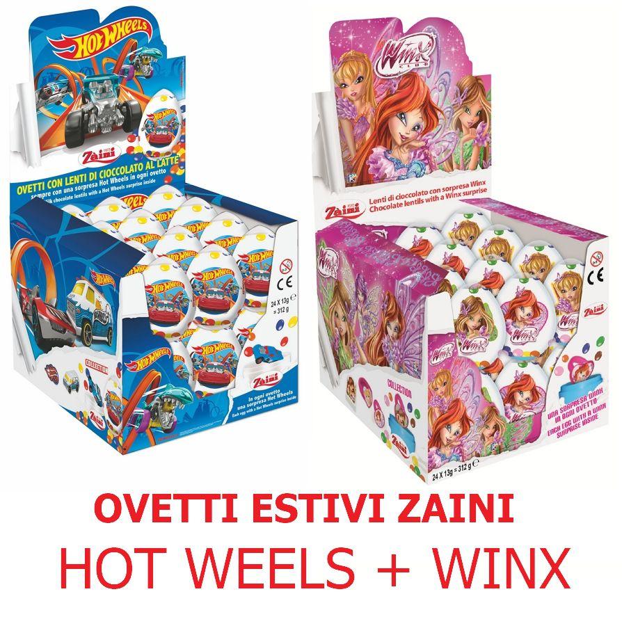 OVETTO ZAINI ESTIVO 48pz (24x2) LENTI WINX + HOT WEELS