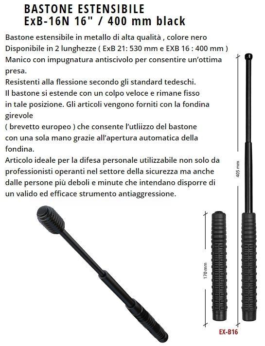 BASTONE ESTENSIBILE 16/400mm 1pz DEFENCE SYSTEM