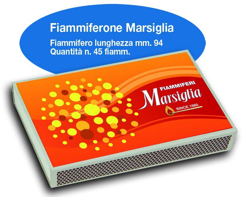 FIAMMIFERI FIAMMIFERONE MARSIGLIA 9cm 20pz DA 45 Fiammiferi