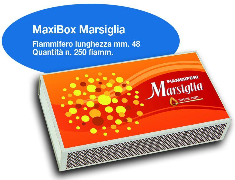 FIAMMIFERI MAXI BOX MARSIGLIA 20pz DA 255 FIAMMIFERI