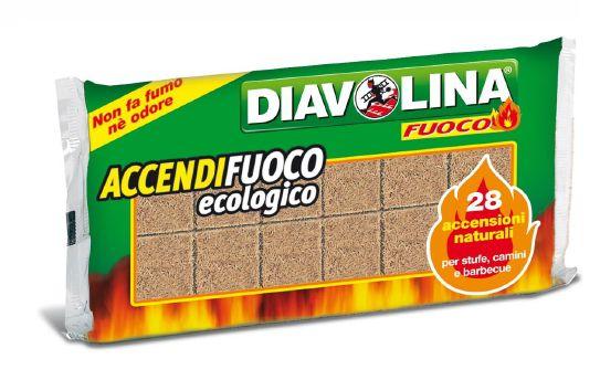 ACCENDIFUOCO DIAVOLINA 28 CUBI ECOLOGICO